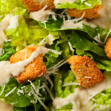 Hot Dog Caesar Salad