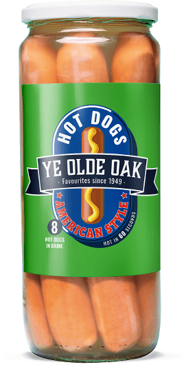 Ye Olde Oak American Style Hot Dogs 720g jar
