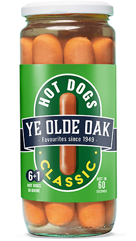 Ye Olde Oak Classic Hot Dogs 520g jar